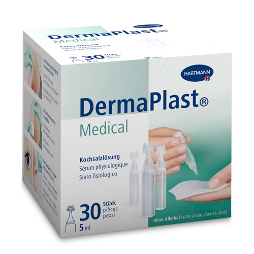 Image de DermaPlast Medical Sérum physiologique 30×5 ml