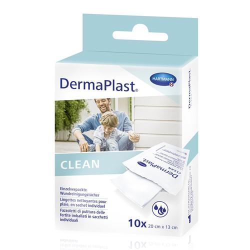 Image de DermaPlast Clean Lingettes pour le nettoyage des plaies 6 cm × 10 cm, 10 pièces