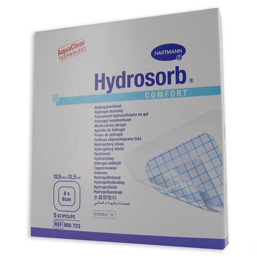 Image de Hydrosorb comfort 12.5×12.5cm 5 pièces (pansement pour brûlures)
