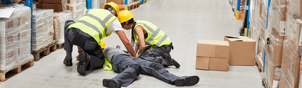 Quels types d'accidents professionnels se produisent à quel endroit?